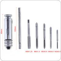 6pcs/set Adjustable Multifunction Tap & Die T-type Screw Thread Taps Reamer with M3 / M4 / M5 / M6 / M8 Taps for Machine Hand Use