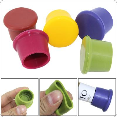 10pcs Silicone Reusable Bottle Stopper with 5 Colors for Red Wine / Beer / Seasoning Bottle