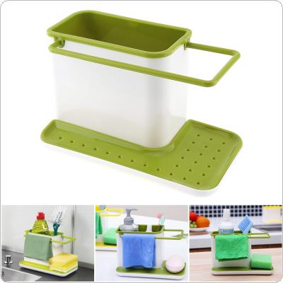 Plastic Multifunction Leachate Storage Shelves with Drainage Board Design and Detachable for Kitchen Bathroom