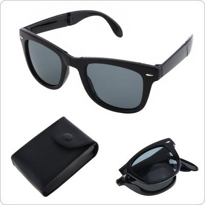 Fashion Foldable Explosion-proof Sunglasses with Glasses Case and Anti-UV for Shopping Travel Taking Photo