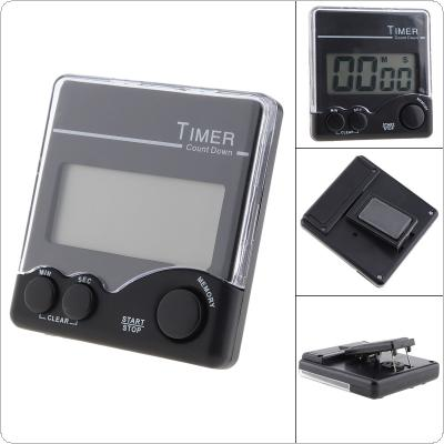 Magnetic Electronic Digital Timer with Bell Prompt and Large LCD Display for Laboratory Kitchen
