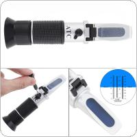 Hand Held 3 In 1 0-25%Vol 0-40%Brix Adjustable Grape & Alcohol Refractometer with Pipette and Mini Screw Driver Support Manual Focusing