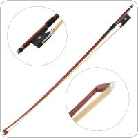 Professional Brazil Wood Bow Rod 1/4 Double Fisheye Ebony Horsetail Violin Octagonal Bow Violin Accessories