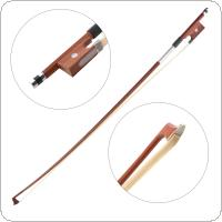 1/4 Red Sandalwood Violin Bow High Elastic Horsetail Violin Bow Violin Accessories
