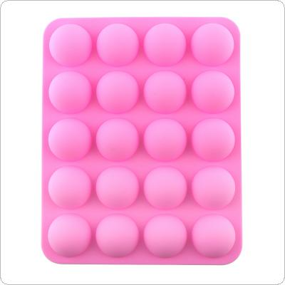 Multifunction Silicone DIY Mold with 20 Small Semicircle and Convenient for Making Ice Cube Candy Chocolate Cake Cookie