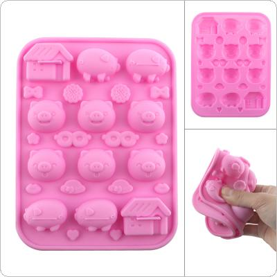 Cartoon Cute Silicone DIY Mold with Many Expressions Modules and Convenient for Making Ice Cube Candy Chocolate Cake Cookie