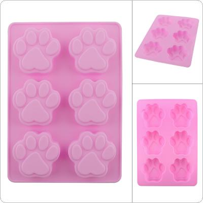 Convenient Creative Silicone DIY Mold with 6 Modules and Cat Claws Type for Making Ice Cube Candy Chocolate Cake Cookie