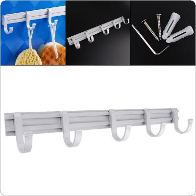 Multifunctional Aluminum Activities Hooks with Silver Wallmounted Robe Hooks for Bathroom