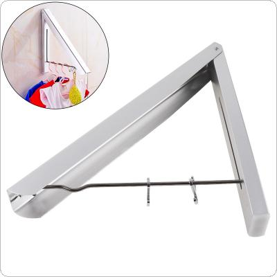 Stainless Steel Retractable Wall Hanger Waterproof Indoor Clothes Towel Rack for Home