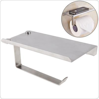 Mutifunctional Silver Stainless Steel Mirror Phone Toilet Paper Holder with Silver Roll Tissue Holder for Bathroom