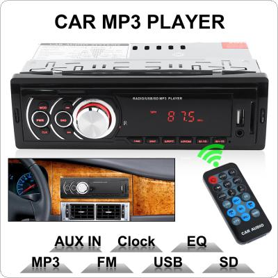 1 DIN LED Display Car In-Dash Stereo Audio FM Aux Input Receiver SD USB MP3 WMA Radio Player