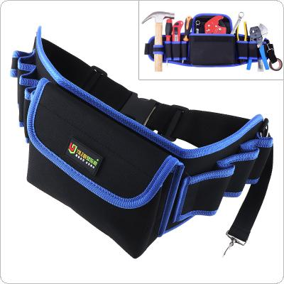 Multifunctional Durable Waterproof Waist Tool Bag with 6 Holes and Electric Drill Pocket for Home / Industrial Maintenance
