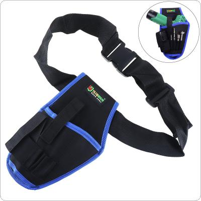 Multifunctional Electrical Drill Pockets Tools Bag with Belt and Tool Storage for Home Decoration / Site Operations