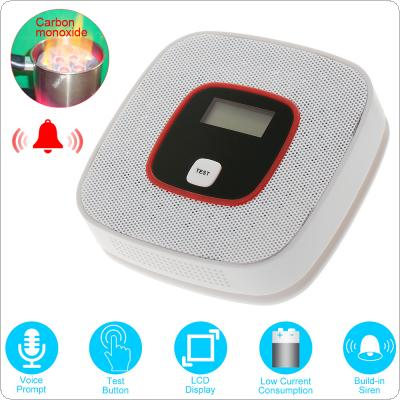 Portable Mini Carbon Monoxide Alarm with Voice Light Alarm LCD and Concentration Display for Air Detection