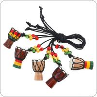 1pcs Mini Jambe Drummer Individuality Djembe Pendant Percussion Musical Instrument Necklace African Hand Drum Accessories Toy