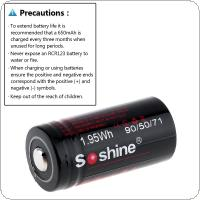 Soshine 2pcs RCR 123 3V 650mAh Li-ion Rechargeable with Battery Box and Safety Relief Valve for Flashlights / Headlamps