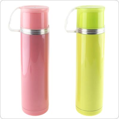500ml Cute Vacuum Stainless Steel Insulation Cup with Concave Bottom and Sealing Plug for Advertising Promotional Gifts