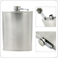 8oz Portable Stainless Steel Hip Flask with Funnel and 240ML Capacity for Men Gift