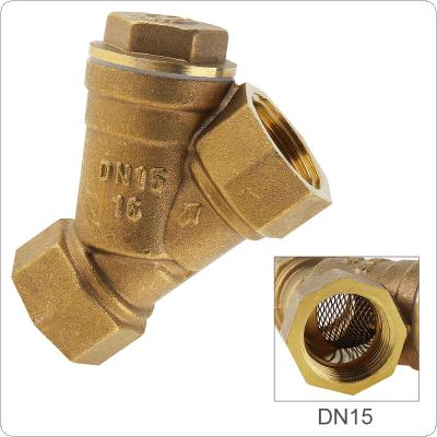 "1/2"" Brass Central Pneumatic Valves Filter with Y Type and 3 Way 3 Position for Draining sewage"