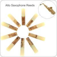 10pcs Alto bE 2-1/2 Saxophone Reeds Bamboo Strength 2.5 for Saxophone Accessories Parts