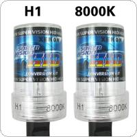 2pcs Waterproof 12V 35W H1 8000K HID Xenon Lights for Car Headlamp Replacement