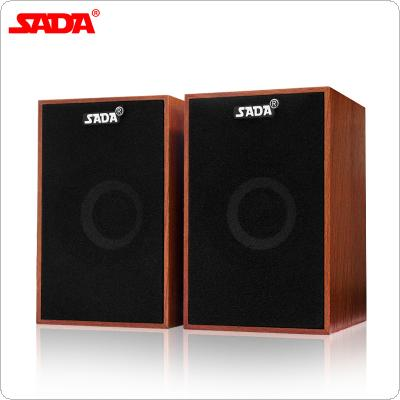 SADA V-160 Portable Mini Wooden Subwoofer Computer Speaker with 3.5mm Audio Plug and USB 2.0 Interface for DVD TV PC