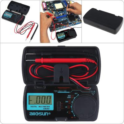 EM3081 Mini Portable LCD Display Digital Multimeter with One Pair Test Pen for Measuring DC AC Voltage and DC Current / Resistance / Continuity / Diode