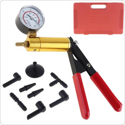 High-Quality 2 In 1 Car Auto HandHeld Pump Vacuum Pistol Pump Brake Bleeder Adaptor Fluid Reservoir Tester Tool Kits