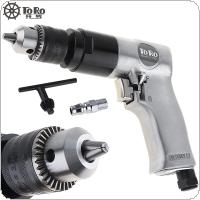 "TORO TR-5100 3/8"" 1800rpm High-speed Cordless Pistol Type Pneumatic Gun Drill Reversible Air Drill for Hole Drilling"