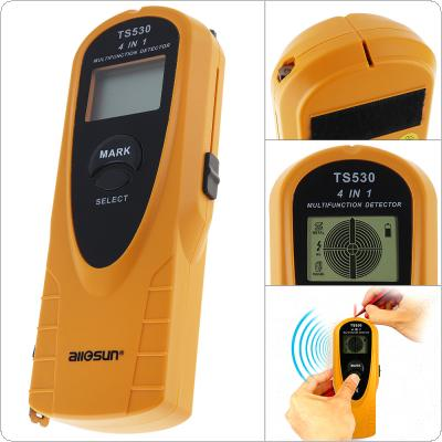 TS530 4 IN 1 Super Digital Multifunction Metal Detector AC Voltage Detector with Indicate light and 2m Tape Measure Inside