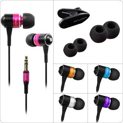 AWEI ES-Q3 Super Bass In-ear Mini Stereo Noise Cancelling Earphone Clear Sound with Nylon Weave Wire  for Computer / Mobile Phone / Portable Media Player