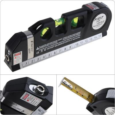 Multipurpose Horizon Vertical Measure Level Laser LV03 Aligner Bubbles Ruler Tool with Tape for Daily Life Measurement