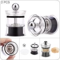 2pcs Mini Mill with Acrylic Manual Durable Grinder for Home Cooking