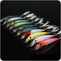 10pcs/lot Fishing Lure Suit 9cm 8g Simulation Fish Hard Plastic Bait with Fishing Tackle Hook for Fish Carp Minnow