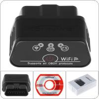 12V Konnwei KW903 EML327 OBD2 Wifi V 1.5 Auto Bluetooth Adapter Diagnostic Scanner for IOS and Android System