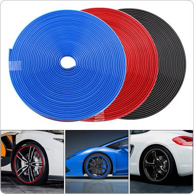 3 Colors 8M PVC  Protective Rubber Strip Anti Scraping Automobile Tires for 13 Inch ~22 Inch Tires