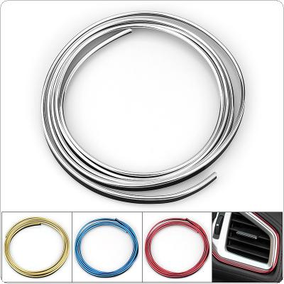 4 Colors 5M PVC Plastic + Electroplating T Type Embedded  Not Pasting Automobile Decoration Line