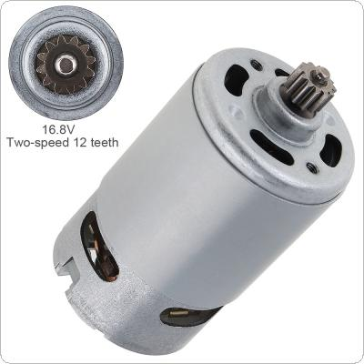 RS550 16.8V 19500 RPM DC Motor with Two-speed 12 Teeth and High Torque Gear Box for Electric Drill / Screwdriver