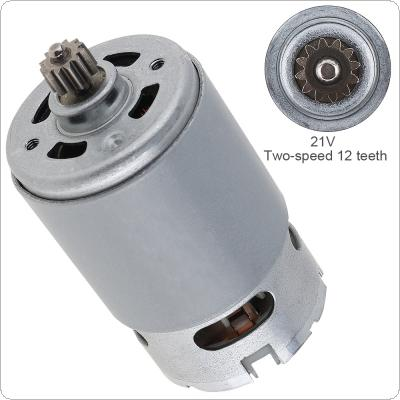 RS550 21V 19500 RPM DC Motor with Two-speed 12 Teeth and High Torque Gear Box for Electric Drill / Screwdriver