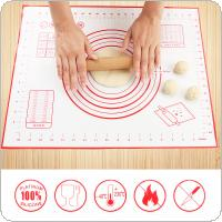600 x 500MM Silicone Fiberglass Baking Pad Mat with Thermal Stability Scale Non Stick Mat for Baking