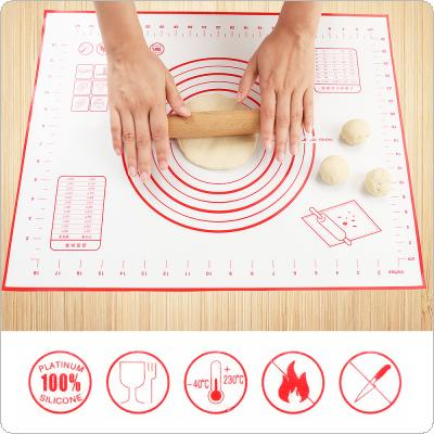 500 x 400MM Silicone Fiberglass Baking Pad Mat with Thermal Stability Scale Non Stick Mat for Baking