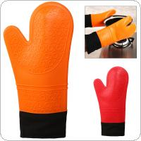 Long Adding Cotton Food Grade Silicon Rubber Gloves with Antiskid Insulation Gloves for Home