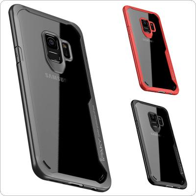 IPAKY PC + TPU Transparent Anti-drop Phone Cases for Samsung S9