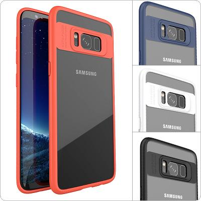 IPAKY PC + TPU Transparent Anti-drop Phone Cases for Samsung S8 Plus