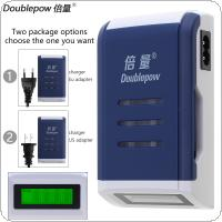 Doublepow K209 4 Slots LCD Display Intelligent Quick Battery Charger for AA Battery / AAA Battery / NiCd Battery / NiMh Battery
