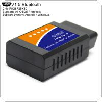 ELM327 V1.5 PICI8F25K80 Super Mini Bluetooth Scanner Wireless Interface Auto Interface Code Readers Diagnostic Tool OBDII Protocols