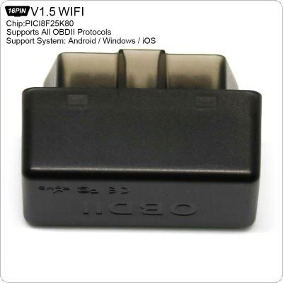ELM327 WIFI V1.5 PICI8F25K80 Super Mini Scanner Wireless Interface Auto Interface Code Readers Diagnostic Tool OBDII Protocols