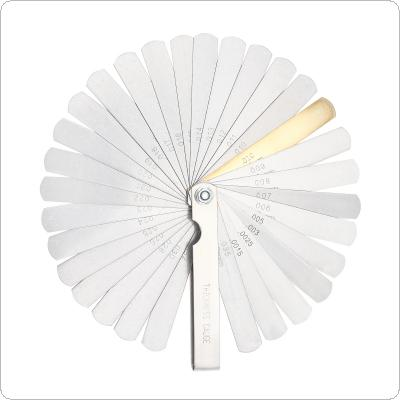 32 Blades Combination Feeler Gauge Metric / Imperial Filler 0.04-0.88mm Thickness Gage For Measuring Tool