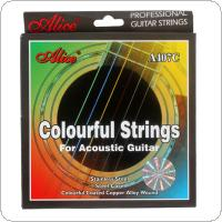 4818382abb0 ... Alice Colorful Coated Copper Alloy Wound Stainless Steel Acoustic  Guitar Strings