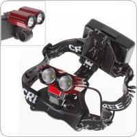 600LM 2X 3W CREE XPE LED Light High Power Rechargeable Bike Bicycle Headlamp